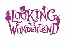 "Alice in Wonderland ""Looking"" Raspberry - Typography quote Decorative Vinyl Wall"