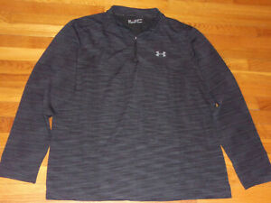 NEW UNDER ARMOUR HEATGEAR 1/2 ZIP LONG SLEEVE FITTED PULLOVER MENS 2XL