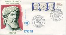 Enveloppe 1er Jour FREJUS 11/06/1988 hermès dicephale éd courbevoie timbrée