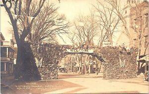 RPPC Tilton NH World War I Welcome Home Parade November 11 1919
