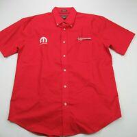 St. Johns Men Shirt Large Short Sleeve Mopar Dodge Motorsports Iron Free