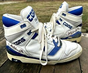 Converse CONS ERX 250 Game Worn DETLEF SCHREMPF Autographed Shoes Indiana Pacers