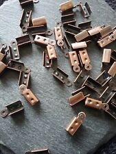 100 Antique Copper 12x5mm Folding Cord Crimp Ends Tips for Leather UK Seller