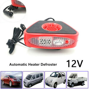 150W 12V Car SUV Heater Windscreen Demister Defroster Built-in LED Flashlight