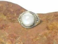Round Shaped Rainbow MOONSTONE Sterling Silver 925 Gemstone Ring
