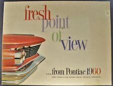 1960 Pontiac Brochure Bonneville Catalina Star Chief Ventura Wagon Original 60