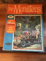Vintage The Munsters Jigsaw Puzzle Complete 100 Pieces 1965 Whitman