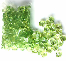 GREEN ACRYLIC ICE 480G (2cm wide) Scatters & Vase Fillers for WEDDINGS PARTIES