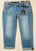 SIMPLY VERA WANG Boyfriend Jeans Blue Distressed Denim Mid-Rise Cotton Womens 4