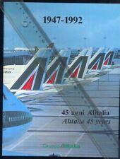 ALITALIA airline 45th anniversary brochure air memorabilia G12 MD11 poster aa