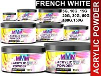 UK Acrylic Nail Extension FRENCH WHITE Acrylic Liquid Powder Acrylic Nail Art