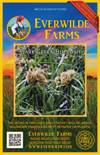 2000 Dark Green Bulrush Native Grass Seeds - Everwilde Farms Mylar Seed Packet