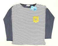 Wysteria Lane Womens Size M Striped Blue Long Sleeve T-Shirt (Regular)