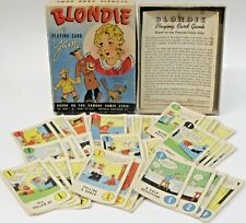 1941 BLONDIE PLAYING CARD GAME Whitman #3081 BOXED complete *