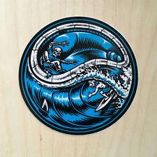 Jim Jimbo Phillips surf skateboard vinyl sticker skeleton skull shark waves pool