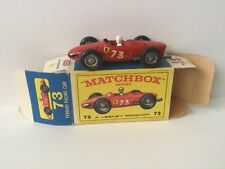 Vintage Matchbox Lesney - #73 Ferrari F1 Racing Car - Near Mint - Original Box