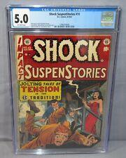 SHOCK SUSPENSTORIES #10 (Golden Age Crime) CGC 5.0 VG/FN EC Comics 1953