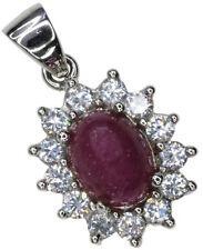 "Cubic Zirconia 18 - 19.99"" Ruby Fine Necklaces & Pendants"