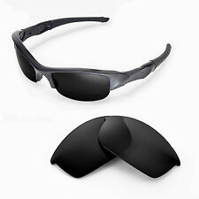 New Walleva Black Replacement Lenses For Oakley Flak Jacket Sunglasses