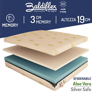 COLCHON COLCHONES Espuma Viscoelástica 2 Capas 14 CM + 3 CM 100% Made IN Italy
