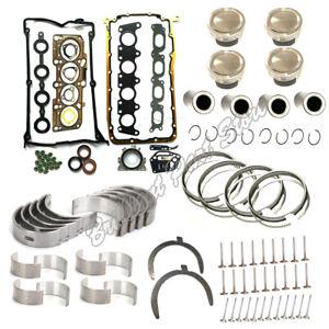 Engine Rebuild Kit Piston Valve Gasket set Fit For Golf A3 A6 Passat 1.8T 99-10