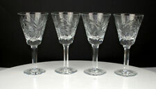 "Antique Set of 4 Victorian Fine Crystal 6"" wine glasses Beautifully handcrafted"