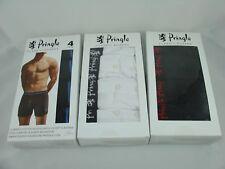 MENS PRINGLE BOXERS SHORTS Black or White 4 Boxer Classic Underwear S M L XL
