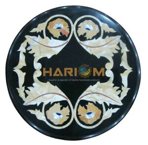 """12"""" Marble Coffee Table Top Inlay Gemstone Marquetry Furniture Decorates B170"""
