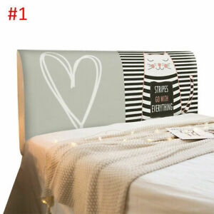 Cartoon Bedside Cover Stretch Bed Headboard Cover Dustproof Slipcover Home Decor