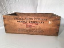Antique Winchester Western Ammo Wooden Factory Box Small Arms No 209 Primers