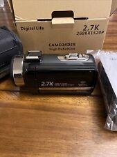 Digital Life 2.7K Vlogging Camera for YouTube 30MP 16X Digital Zoom Camcorder