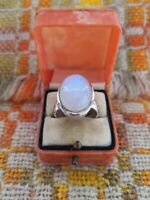 Stunning Artisan Oval Moonstone 925 Sterling Silver Ring New Size 7 1/4 O 1/2
