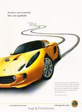 2006 Lotus Elise - Original Advertisement Print Art Car Ad J641