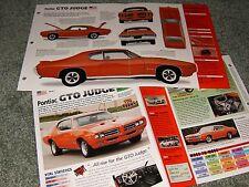 1969 PONTIAC GTO JUDGE SPEC INFO POSTER BROCHURE AD 69