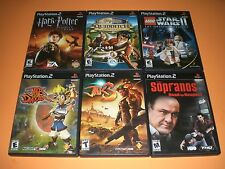 Lot of 6 PS2 gms Complete GREAT COND! Haarry Potter, Jak Daxter 1 & 3, Star Wars