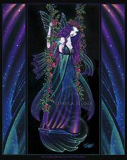 Fairy Wall Art Signed Print Rainbow Bohemian Flower Swing Iris Nebula Fae V1