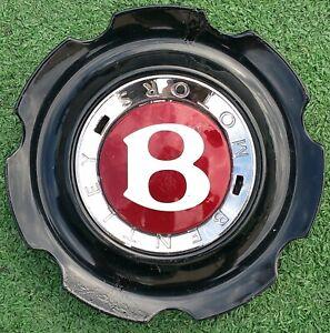 Factory Bentley Continental Elegant Center Cap 21 in Wheel OEM Black 3W0601171G