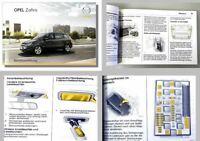 Opel Zafira B Betriebsanleitung Bedienungsanleitung Bordmappe 08/2008 OPC ...