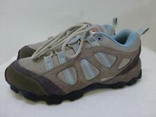 Swiss Gear blue gray leather hiking trail low top Shoes army womens sz 9.5 41.5