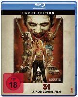 31 A Rob Zombie Film - Version Thirty One BRAND NEW Bluray Region B Europe Uncut
