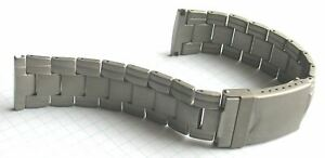 MABRO 22 mm Massives Titanuhrenarmband Vollmaterial mit Sicherheitsfaltschliesse