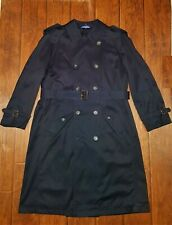 Chaps Ralph Lauren Navy Blue Trench Coat size 40R fits like XL