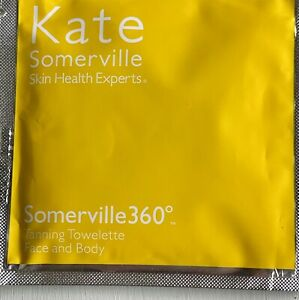 2 KATE SOMERVILLE 360 BODY SELF TANNING TOWELETTES 2 AMAZING! NEW