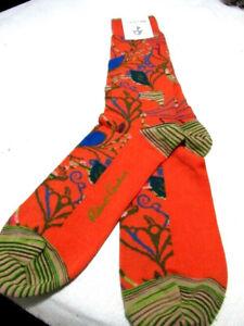 Robert Graham Socks Shoe 7.5-12 Senna Men's Orange Peruvian pima cotton