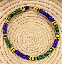 New African Maasai Beaded Choker Necklace Masai Massai ethnic tribal boho jnmr83