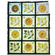 Victorian Floral Stained Glass Leaded Window