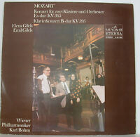 "Mozart Concert For Two Pianos Elena & Emil Gilels Karl Böhm Amiga 12 "" LP f301"