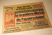 BILDzeitung 4.9.1963 September 04.09.1963 Geschenk Geburtstag 60. 57. 58. 59.