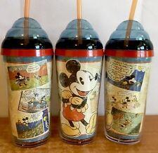 Disney Mickey Tumbler Travel Cup Comic Cartoon Adventures Shakes Drinks RARE