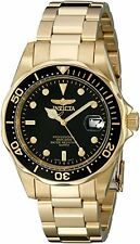 Invicta Men's Pro Diver Quartz 3 Hand Black Dial Watch 8936